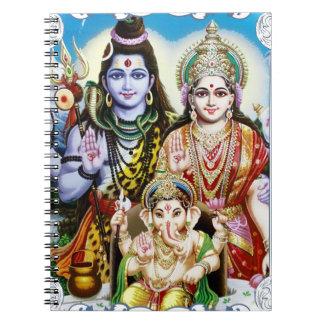 Ganesh, Shiva and Parvati, Lord Ganesha, Durga Notebooks