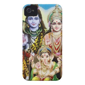Ganesh Shiva y Parvati señor Ganesha Durga iPhone 4 Carcasa