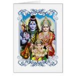 Ganesh, Shiva y Parvati, señor Ganesha, Durga Tarjeta