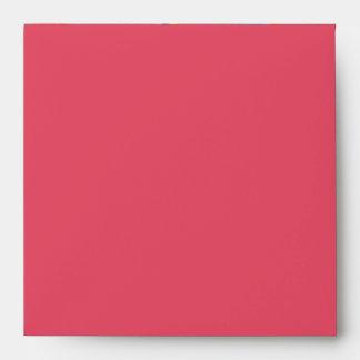 Ganesh Square Invitation Envelope pink