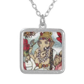 GANESH STAINED GLASS 12 FEB 2014.jpg Custom Necklace