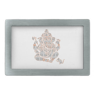 Ganesh Strength Rectangular Belt Buckle