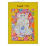 Ganesh Thank You Card yellow