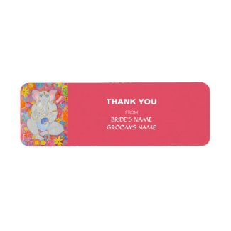 Ganesh Thank You Gift Sticker pink label