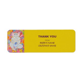 Ganesh Thank You Gift Sticker yellow label