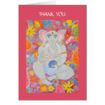 Ganesh Thank You Note Card pink