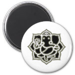 Ganesh the giver of Success 2 Inch Round Magnet
