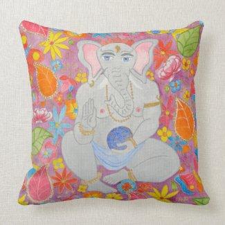Ganesh Throw Cushion pink throwpillow