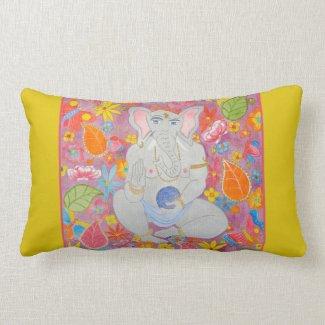 Ganesh Throw Pillow yellow throwpillow