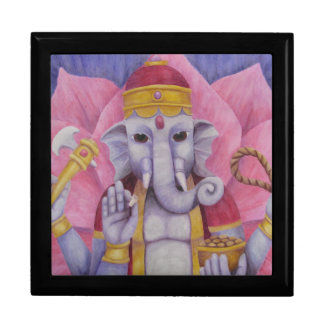 Ganesh Tile and Wooden Box