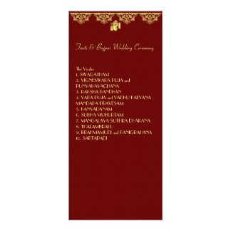 Ganesh Wedding Ceremony Program