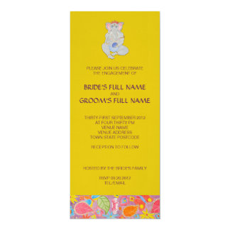 Ganesh Wedding Engagement Invitation yellow