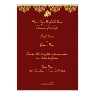 Hindu Wedding Invitations Zazzle