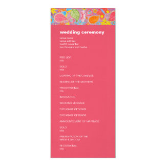 Ganesh Wedding Program pink 4x9.25 Paper Invitation Card