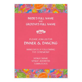 "Ganesh Wedding Reception Invitation pink 5"" X 7"" Invitation Card"