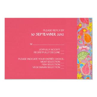 """Ganesh Wedding RSVP Card 3.5"""" X 5"""" Invitation Card"""
