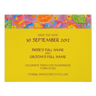 "Ganesh Wedding Save the Date Announcement 4.25"" X 5.5"" Invitation Card"