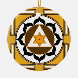 Ganesh Yantra Ceramic Ornament