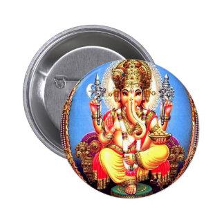 Ganesha (गणेश) Indian Elephant Button