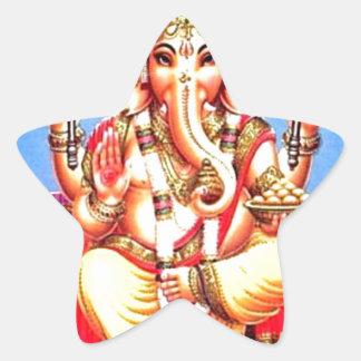 Ganesha (गणेश) Indian Elephant Star Sticker
