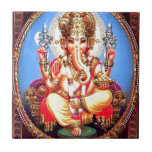 """Ganesha (गणेश) Indian Elephant Tile<br><div class=""""desc"""">Lord Ganesha (गणेश),  also known as Ganapati and Vinayaka,  is one of the best-known and most worshipped deities in the Hindu pantheon. His image is found throughout India,  Sri Lanka and Nepal. Devotion to Ganesha extends to Hindu,  Jains and Buddhists.</div>"""