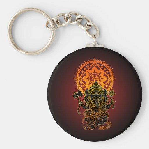 Ganesha 02 basic round button keychain
