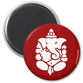 Ganesha 2 Inch Round Magnet