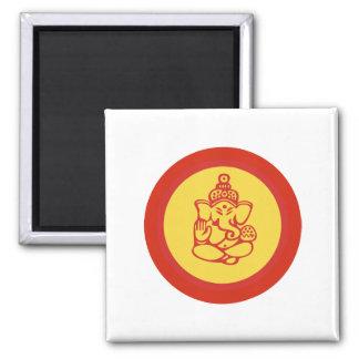 Ganesha 2 Inch Square Magnet