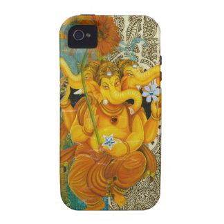 Ganesha anaranjado iPhone 4 funda