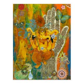 Ganesha anaranjado postal
