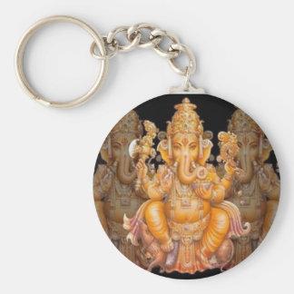 Ganesha - Annihilating of Obstacles Basic Round Button Keychain