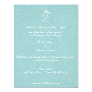 Ganesha azul Invitaitons Invitación 10,8 X 13,9 Cm