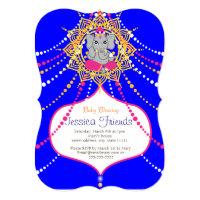 "Ganesha Baby shower 5"" x 7"" invitation card"