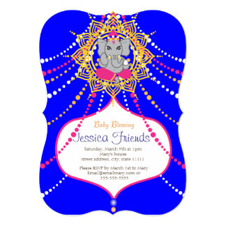 "Ganesha Baby shower 5"" x 7"" invitation card"