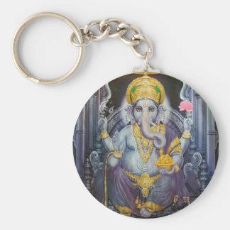 Ganesha Basic Round Button Keychain