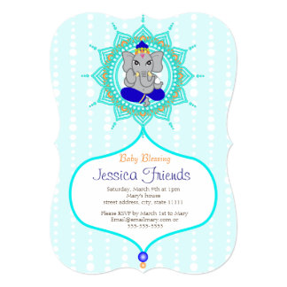 "Ganesha boy Baby shower 5"" x 7"" invitation card"