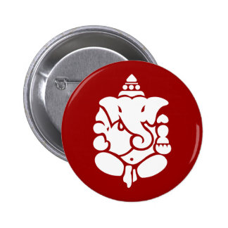 Ganesha 2 Inch Round Button