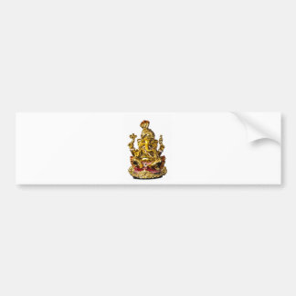 Ganesha by Vanwinkle Designs Bumper Sticker