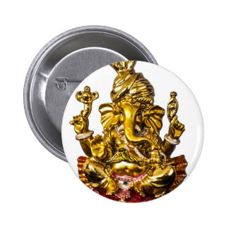 Ganesha by Vanwinkle Designs Pinback Button