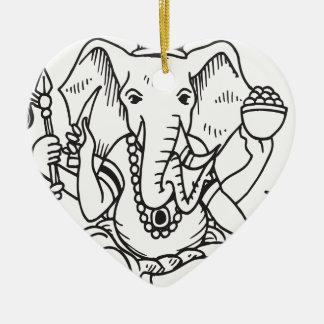 Ganesha Ceramic Ornament