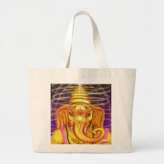 Ganesha con el bolso de la lona del casco bolsa tela grande