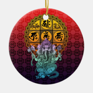 Ganesha Diamond Realm 2 Ceramic Ornament