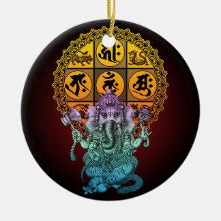 Ganesha Diamond Realm Ceramic Ornament