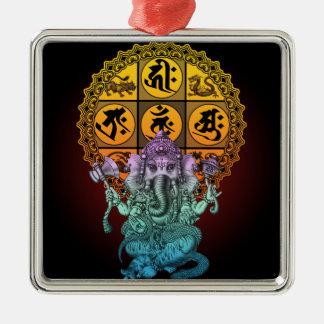 Ganesha Diamond Realm Metal Ornament