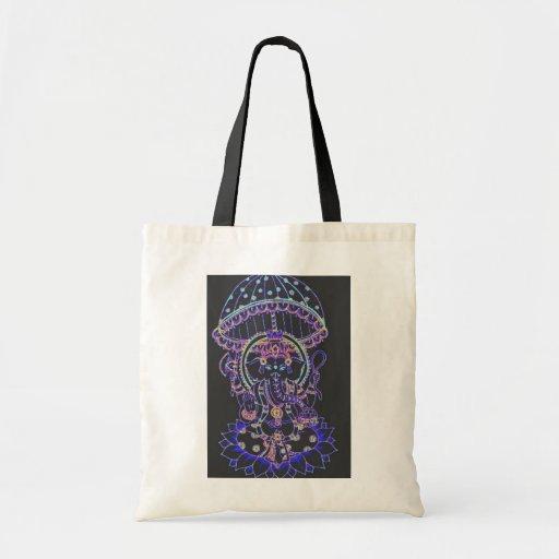 Ganesha Elephant goddess Tote Bags