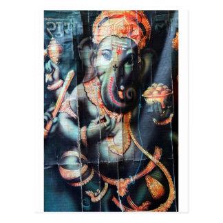 Ganesha elephant Hindu Success God Postcard