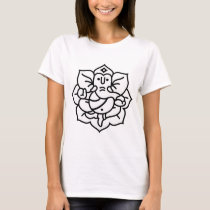 Ganesha Elephant No. 2 (black white) T-Shirt