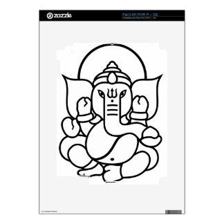 Ganesha Elephant No. 3 (black white) iPad 2 Skin