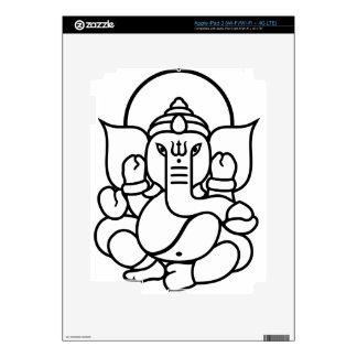 Ganesha Elephant No. 3 (black white) Skins For iPad 3