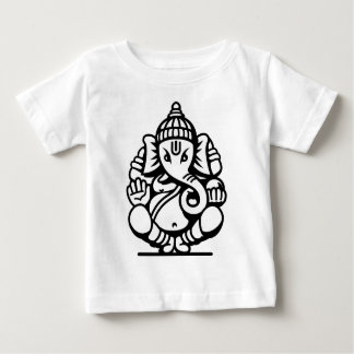 Ganesha Elephant No. 4 (black) Baby T-Shirt